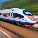 Beautiful photo of high speed modern commuter trai...