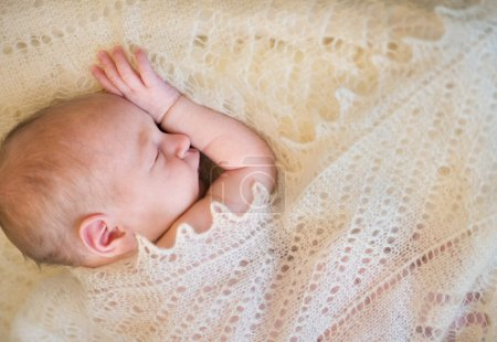Photo for Cute newborn baby portrait. Ten days after birth. - Royalty Free Image