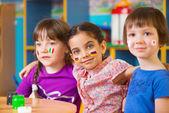 Děti v táboře jazyk