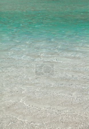 White sand and clear tropical water