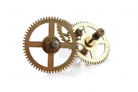 clockwork gears isolated on white