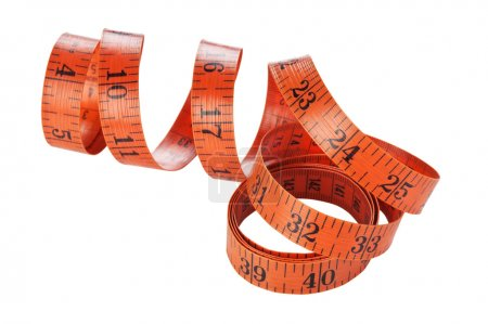 Measuring tape of the tailor isolated