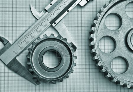 gears and caliper