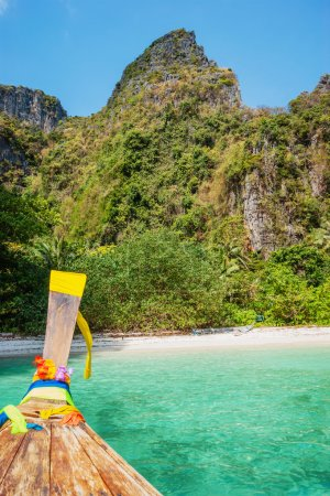 Traditional longtail boats in Phi-phi Leh island