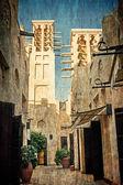 typical old Arab market - souk in Dubai, UAE