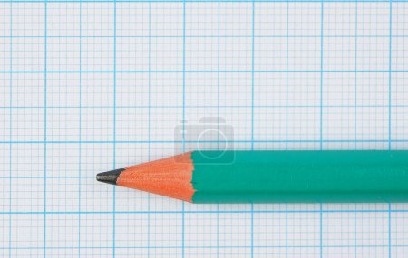 Photo for Drawing pencil on graph paper - Royalty Free Image