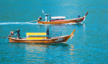 Traditional longtail boats in Phi-phi Leh island, Thailand