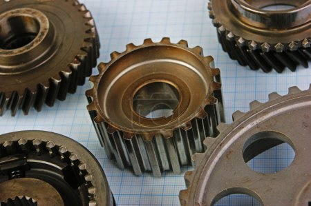 Two gears on graph paper