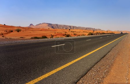Photo for Highway in the Arabian desert - Royalty Free Image