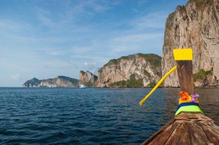 Boats in Phi-phi Leh island