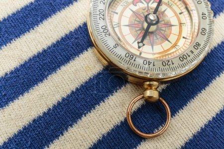 Compass on a sailor shirt