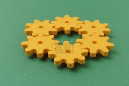 Yellow plastic gears