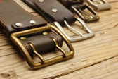 Leather belts with buckle