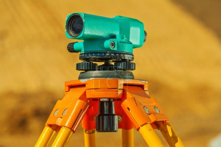 theodolite on on blurry background