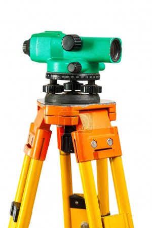 isolated theodolite closeup