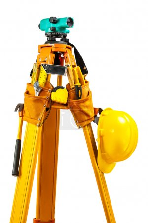 theodolite with tools isolated