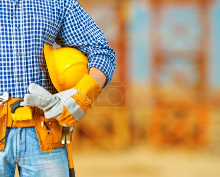 Photo for Worker on construction site - Royalty Free Image
