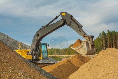 Photo pour Pelle mobile sable - image libre de droit