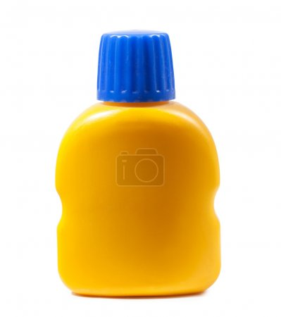 Single yellow bottle