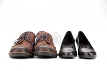 Leather shoes for men and women