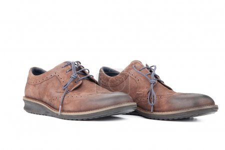 Photo for Brown pair leather shoes for men - Royalty Free Image