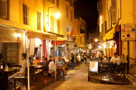 Old town street in Cannes