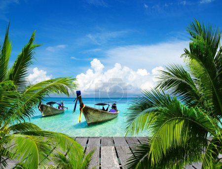 Beautiful beach and tropical sea...