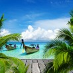 Beautiful beach and tropical sea...
