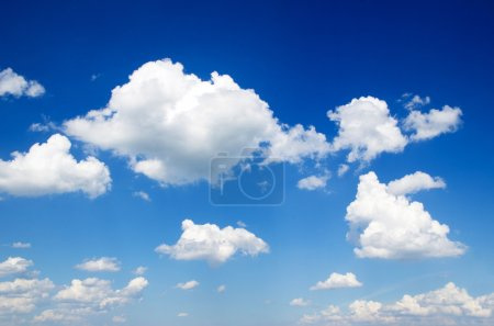 Photo for Blue sky with cloud closeup - Royalty Free Image