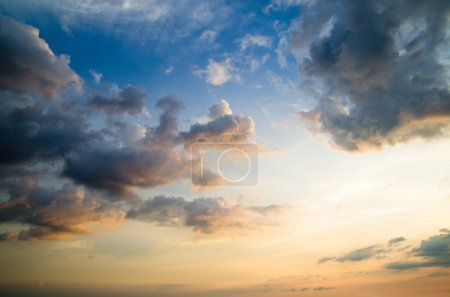 Photo for Sky with clouds and sun - Royalty Free Image