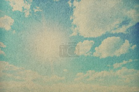Photo for Retro image of cloudy sky - Royalty Free Image