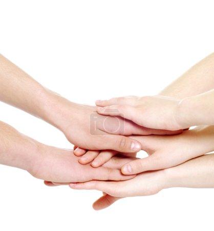 Haufen Hände