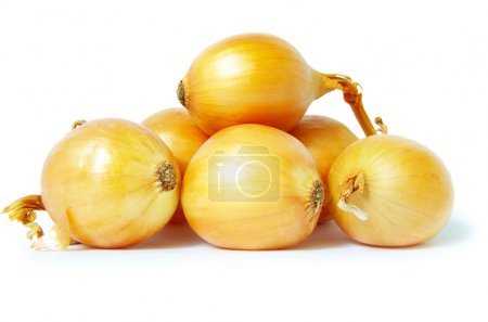 Photo for Ripe onion isolated on a white background - Royalty Free Image