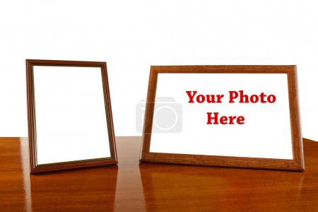 Photo frames on the table. Place for your photos