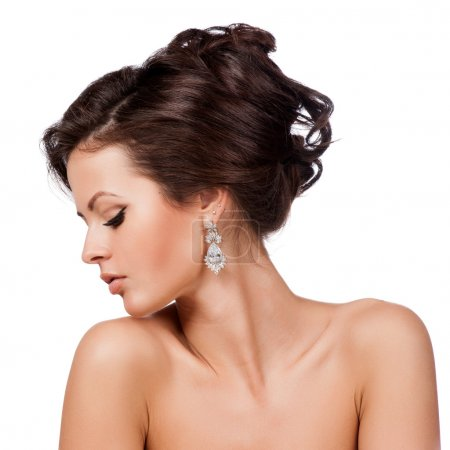 Photo for Fashion Woman Profile Portrait. - Royalty Free Image