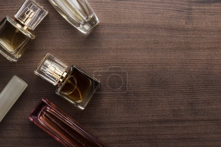 different perfume bottles on the table