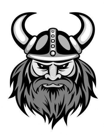 Illustration pour Ancienne tête viking pour mascotte. Illustration vectorielle - image libre de droit
