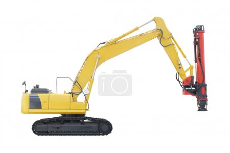 machine for drilling holes isolated