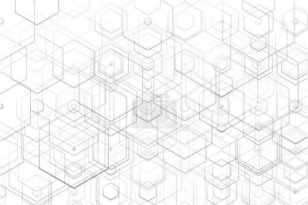 Illustration pour Contexte technologique abstrait. Illustration vectorielle EPS 10. - image libre de droit