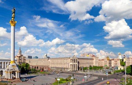 Central square of Kiev, Ukraine