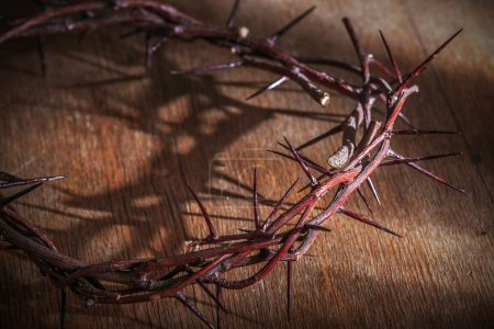 Photo for This is a crown of thorns on the Bible - Royalty Free Image