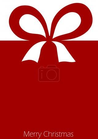 Illustration pour Présent avec ruban rouge noeud - image libre de droit
