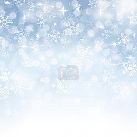 Photo for Winter background with beautiful various snowflakes - Royalty Free Image