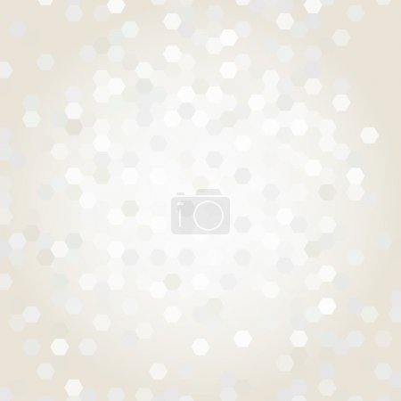 Illustration for Beige background with geometric shapes - Royalty Free Image