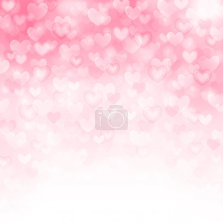Illustration for Vector background with beautiful pink hearts - Royalty Free Image