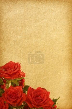paper texture with floral elements