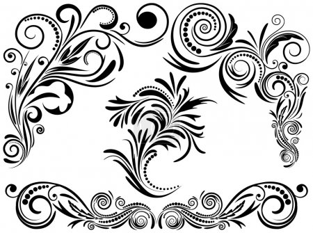 Illustration for Vintage set calligraphic elements, EPS8 - vector graphics. - Royalty Free Image