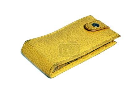 Beautiful yellow leather bag