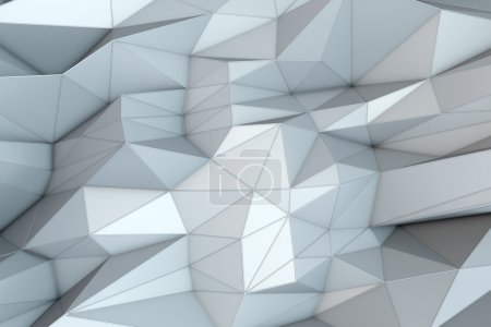 Abstract triangular crystalline background