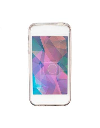 Smart phone on white